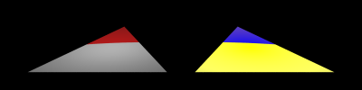 Lighting and slope pattern artifacts in a smooth triangle